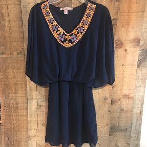 Myan Boutique Brand Cape Sleeved Mini